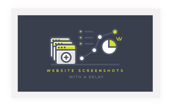 Delay the website screenshot with API request