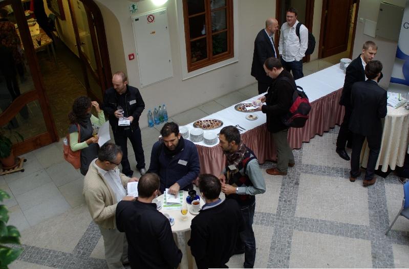 Goran Duskic WhoAPI's co-founder networking at Seedcamp
