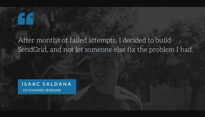 Isaac Saldana SendGrid interview, quote