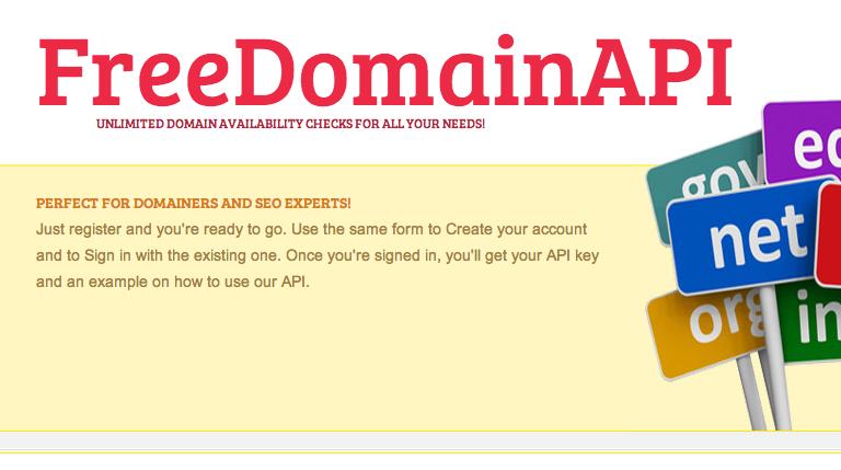 Free domain API