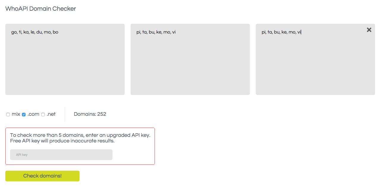 Six letter brandable com domains