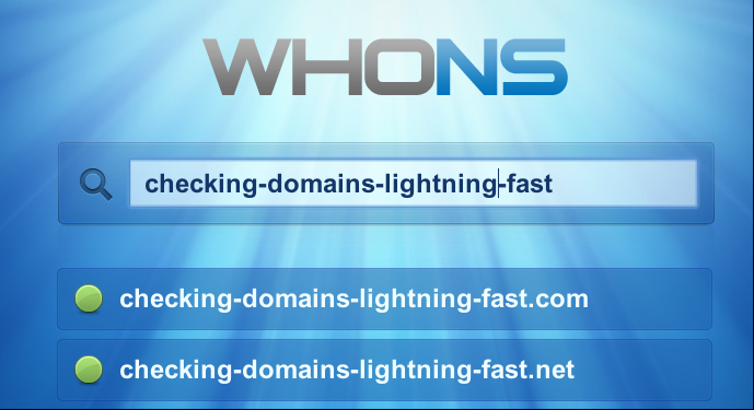 WhoNS - Check domain availability with Javascript.